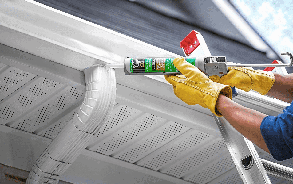 how to fix a leaky gutter corner