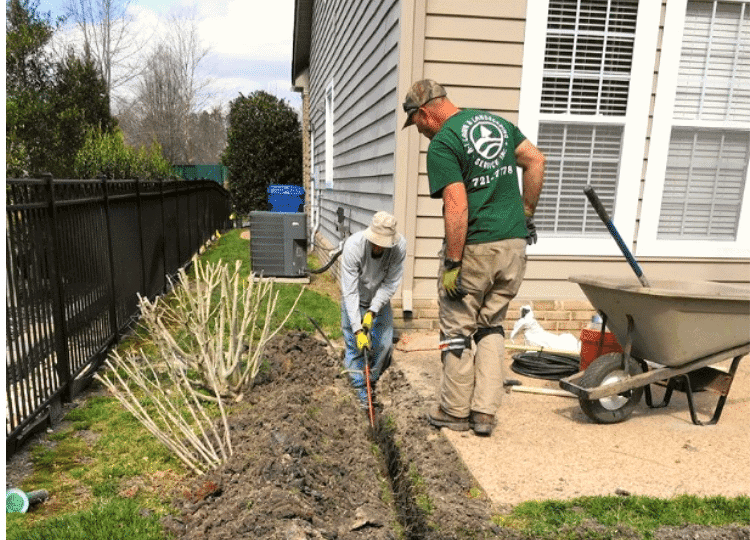 how to drain gutters away from house