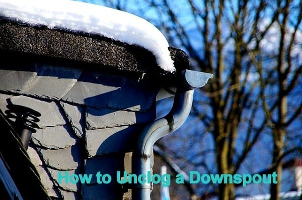 How to unclog a downspout from the ground