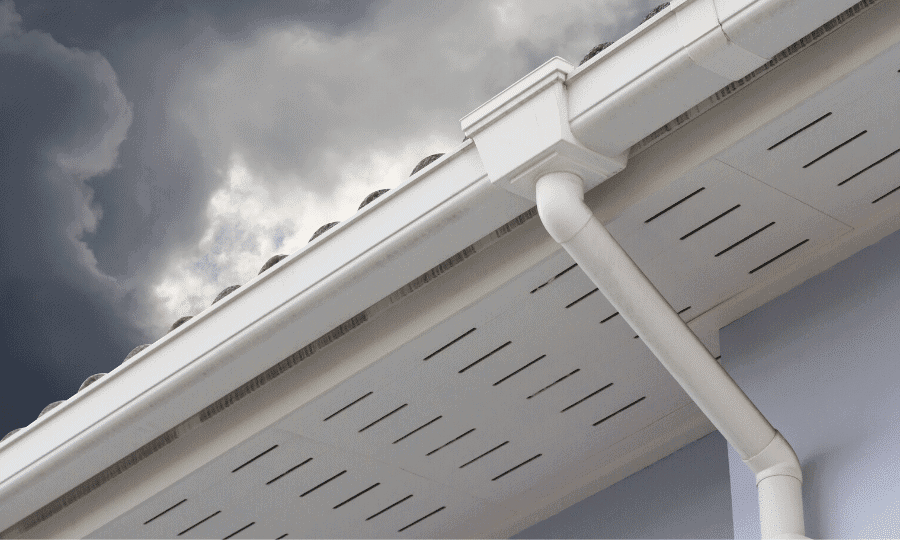 easy way to unclog gutter downspout