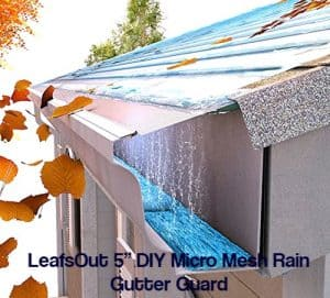 Top brand gutter guard reviews what expert says leafsout 5 diy micro mesh rain gutter guard solutioingenieria Choice Image