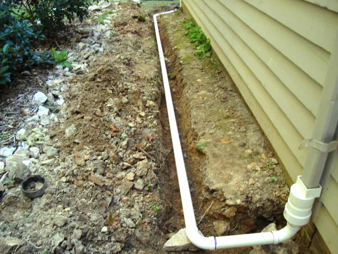 Install Downspout Drain Lines And Get Rid Of Waterlogging