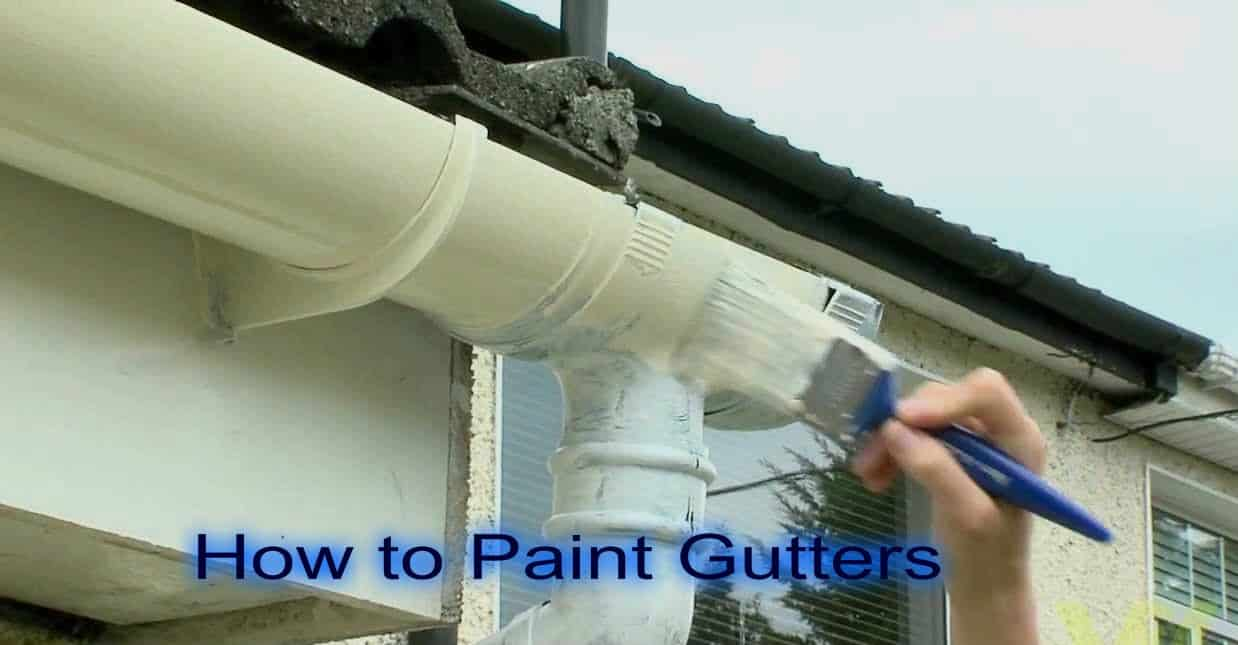 how to paint gutters