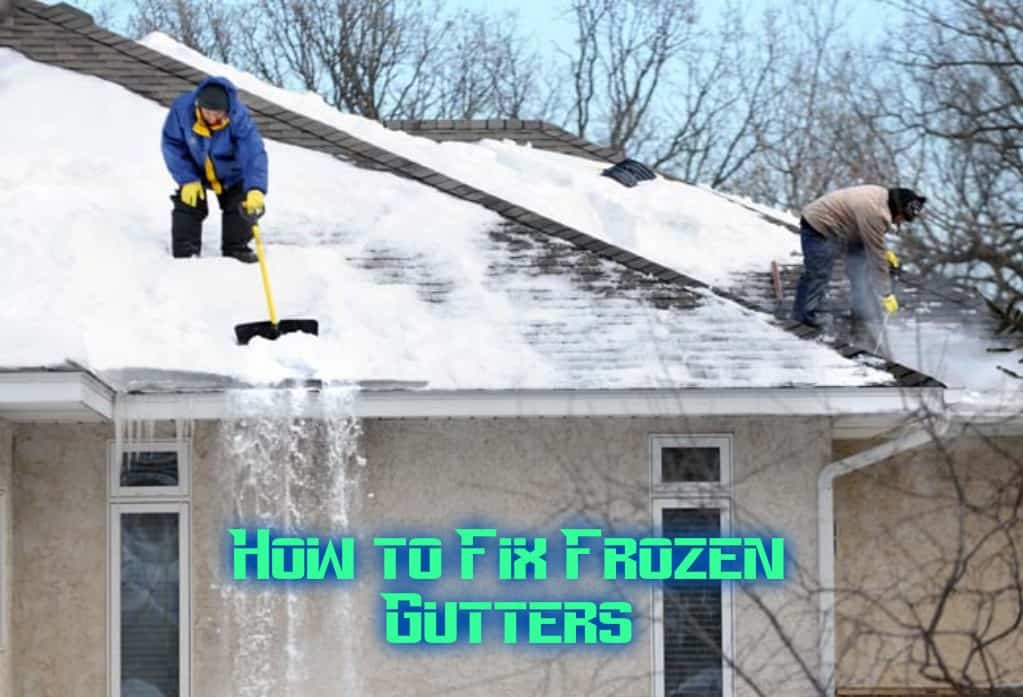 cleaning frozen gutters