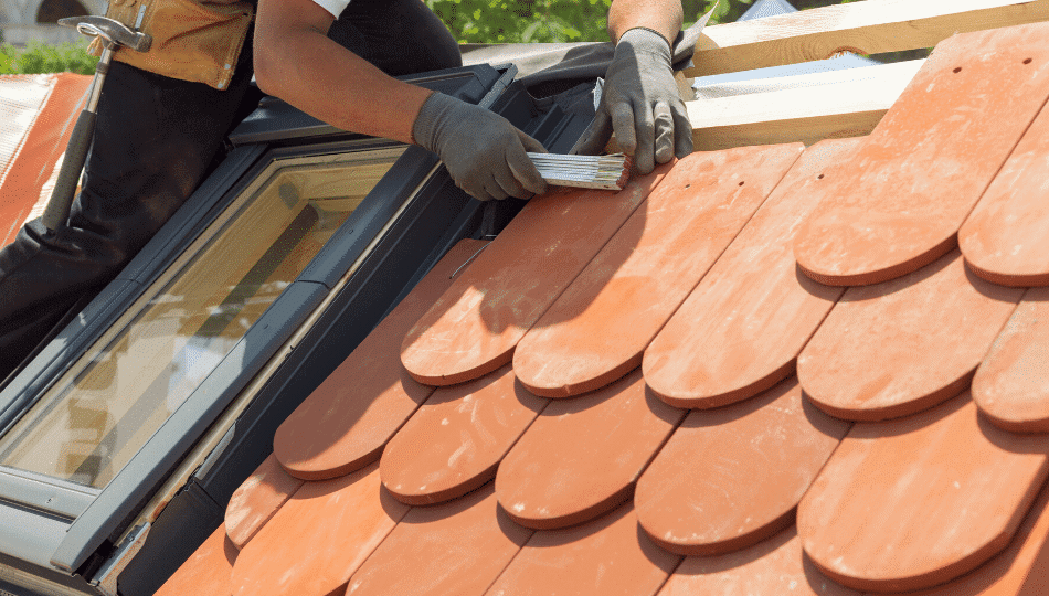 how to fix roof tiles at the ridge