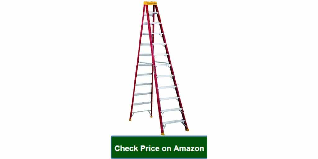 Louisville Ladder 12-Foot Fiberglass Step Ladder Reviews, 300-Pound Capacity, Type IA, L-3016-12