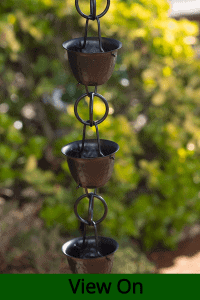 decorative gutter rain chains