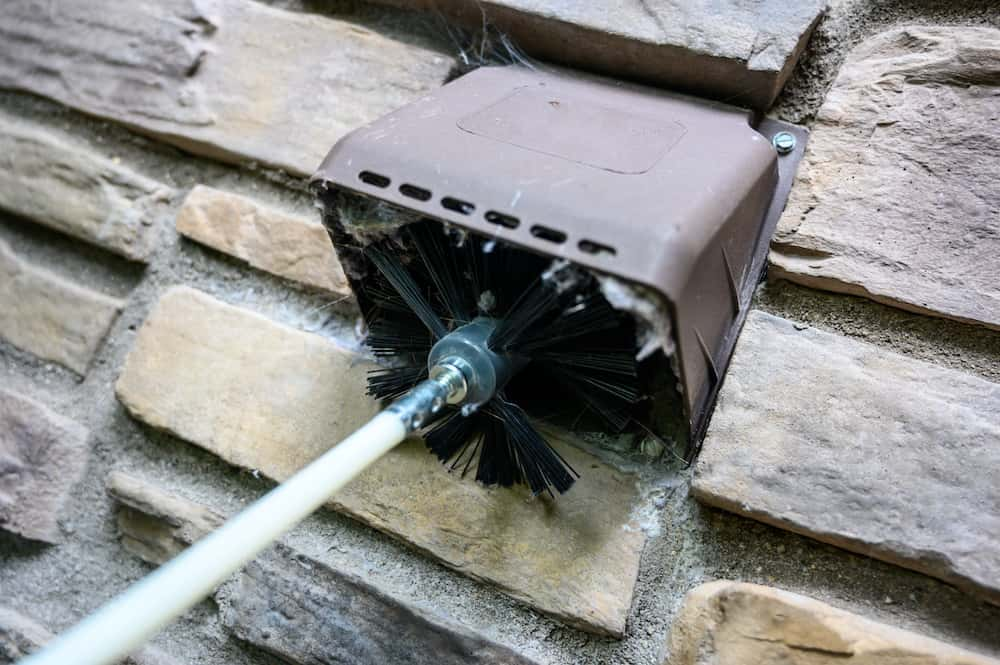 how to clean dryer vent with a leaf blower tips